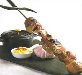 Brochette d'escargots à l'aioli