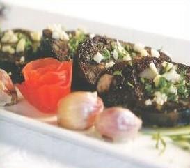 Salade de boudin frit à l'ail rose de Lautrec