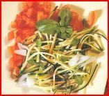 Salade de courgettes au basilic